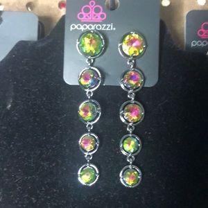 Paparazzi oil slick earrings